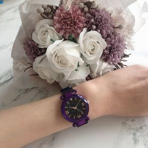 Brand New Purple Metal Watch